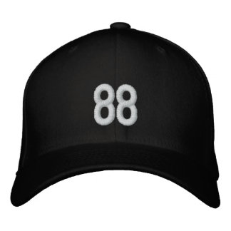 Number 88 cap embroidered hats