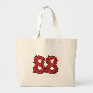 Number 88 floral large tote bag