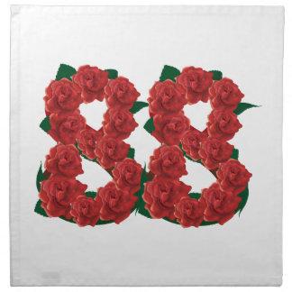 Number 88 floral napkin