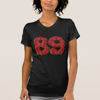 Number 89 or 89th birthday flower T-Shirt