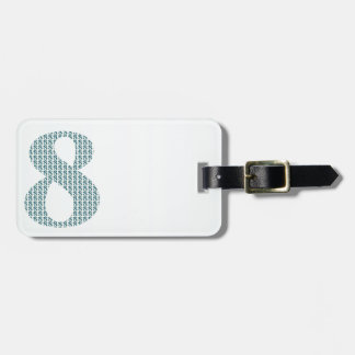 Number 8 / 8th Anniversary decorative gifts Luggage Tag
