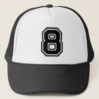 Number 8 Classic Trucker Hat