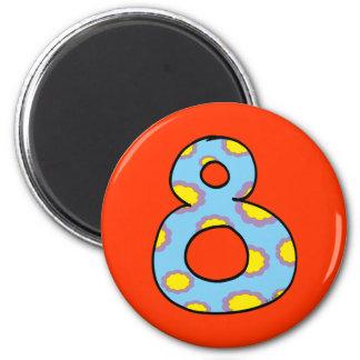 Number 8 magnet