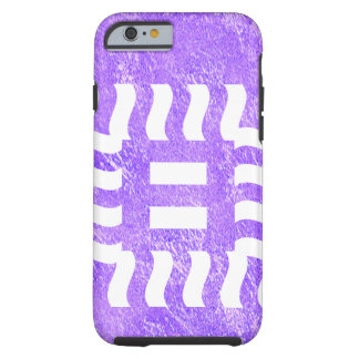 Number 8 reverse on amethyst tone tough iPhone 6 case