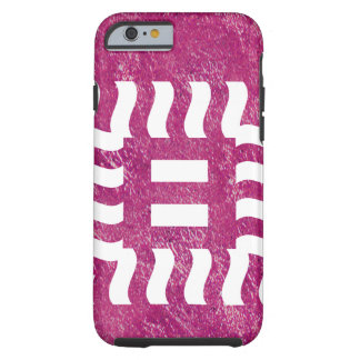 Number 8 reverse on bright violet tough iPhone 6 case