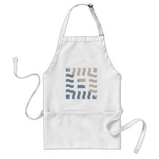 Number 8 split positive light slate gray/taupe standard apron