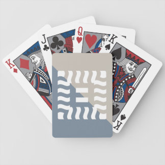 Number 8 split reverse light slate gray/taupe bicycle playing cards