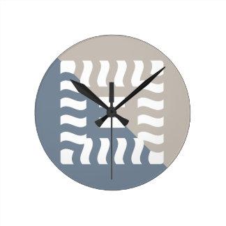 Number 8 split reverse light slate gray/taupe round clock