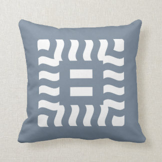 Number 8 split reverse on light slate gray throw pillow