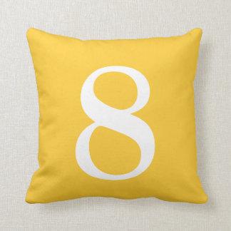 Number 8 throw pillow