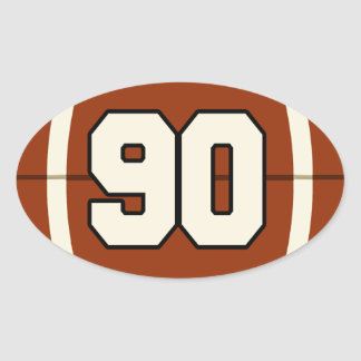 Number 90 Football Sticker