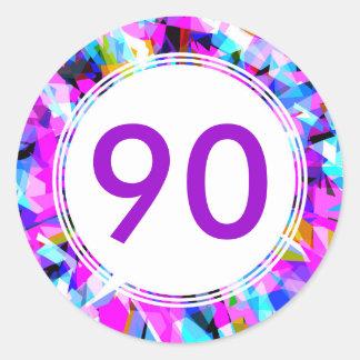 Number 90 - Round Sticker