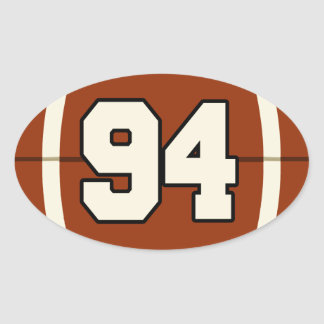Number 94 Football Sticker