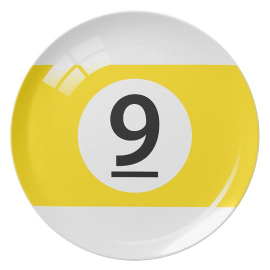 Number 9 billiard or pool ball novelty plate