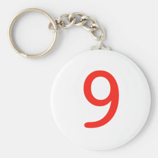 Number 9 keychain