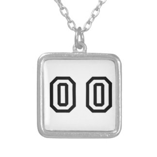Number Double Zero Silver Plated Necklace