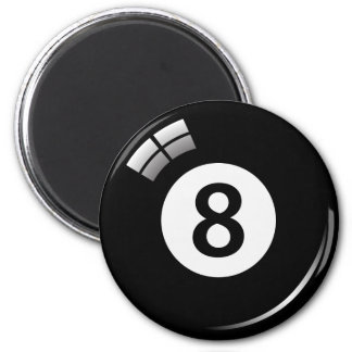 Number eight magic pool ball fridge magnet