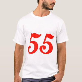 Number Fifty-five 55th Birthday Gifts T-Shirt