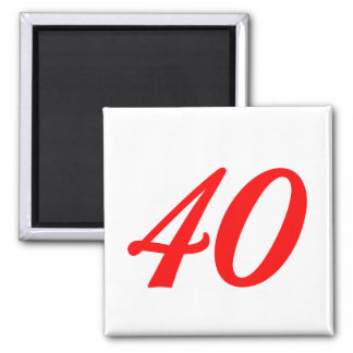 Number Forty 40th Birthday Gifts Magnet