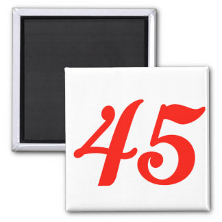 Number Forty-five 45th Birthday Gifts Magnet