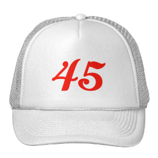 Number Forty-five 45th Birthday Gifts Trucker Hat
