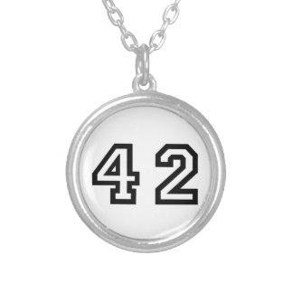 Number Forty Two Silver Plated Necklace