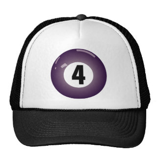 Number Four Billiard Ball Trucker Hat