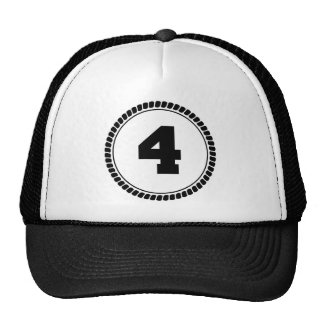 Number Four Circle Trucker Hat