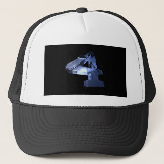 number-Four Trucker Hat