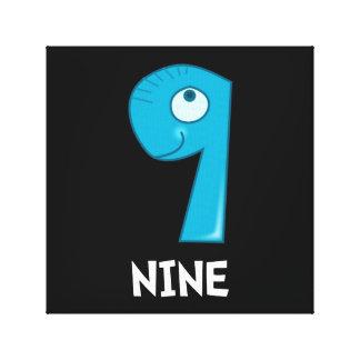 Number Nine Canvas Prints
