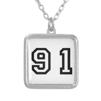 Number Ninety One Silver Plated Necklace