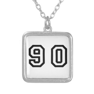 Number Ninety Silver Plated Necklace