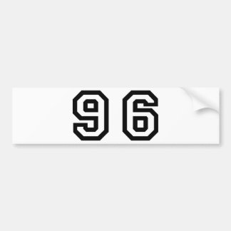 Number Ninety Six Bumper Sticker