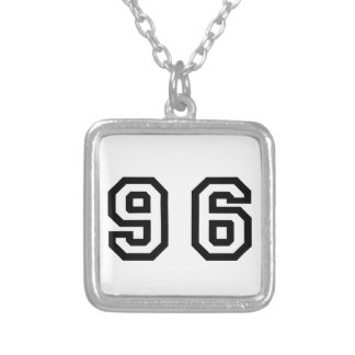 Number Ninety Six Silver Plated Necklace