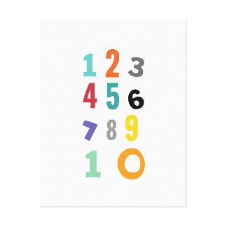 Number, nursery number, kids room decor