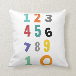 Number, nursery pillow
