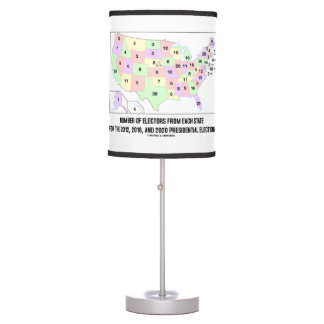 Number Of Electors From Each State Elections Map Desk Lamps