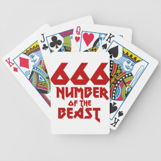 Number of the Beast Bicycle Playing Cards