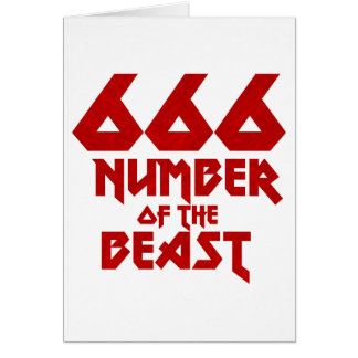Number of the Beast Card
