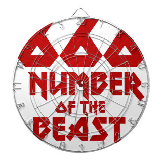 Number of the Beast Dartboard