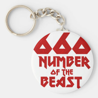 Number of the Beast Keychain