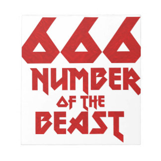 Number of the Beast Notepad