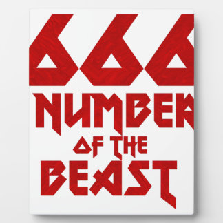 Number of the Beast Plaque