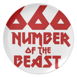 Number of the Beast Plate