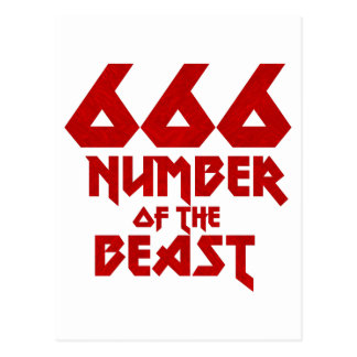 Number of the Beast Postcard