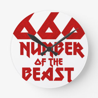 Number of the Beast Round Clock