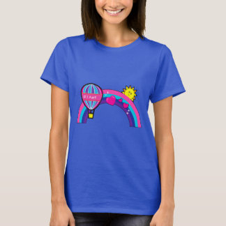 Number One Aunt with Balloon and Rainbow T-Shirt