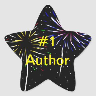 Number one author star sticker