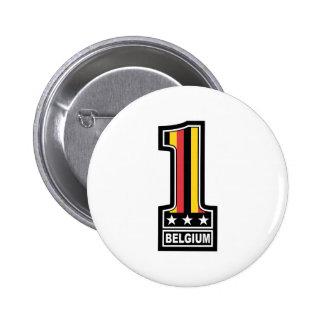 Number One Belgium Pinback Button