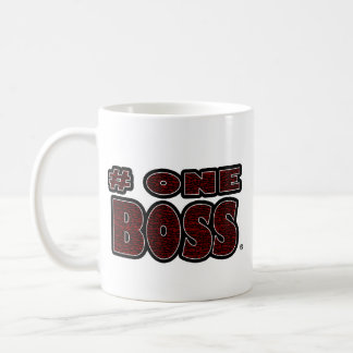 Number One Boss Red Worded Mugs